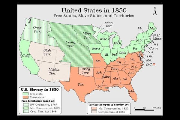 Make Sure You Know The Slave States Were In The Southern Pink On The Map United States